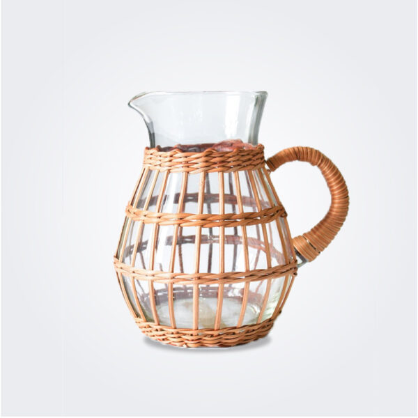 Rattan cage pitcher product picture.