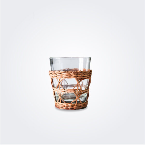 Rattan cage tumbler product picture.