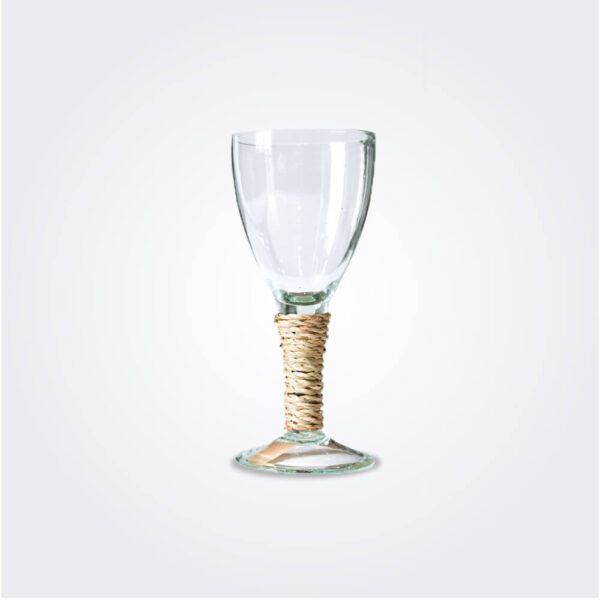 Small seagrass wine glass product picture.