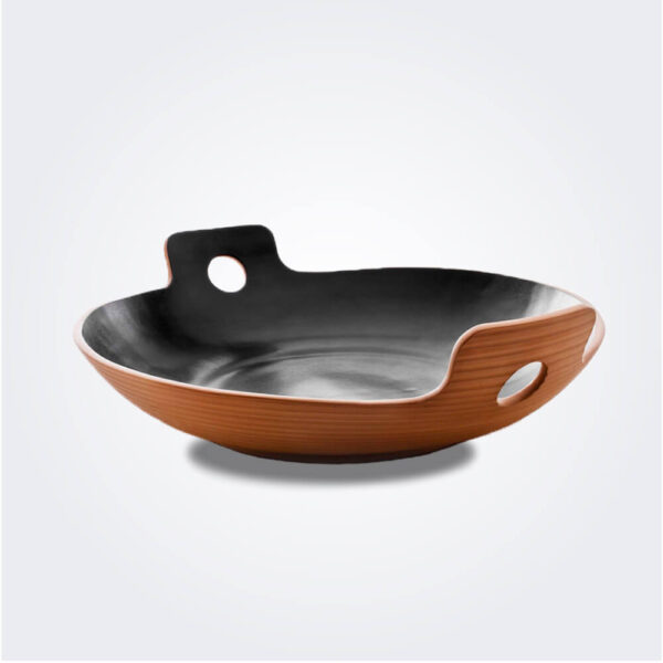 Medium black spaghetti bowl product picture.