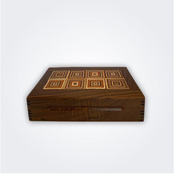 Tobacco decorative wood box product picture.