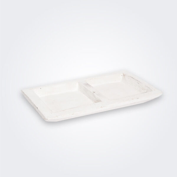 White wood tray product picture.
