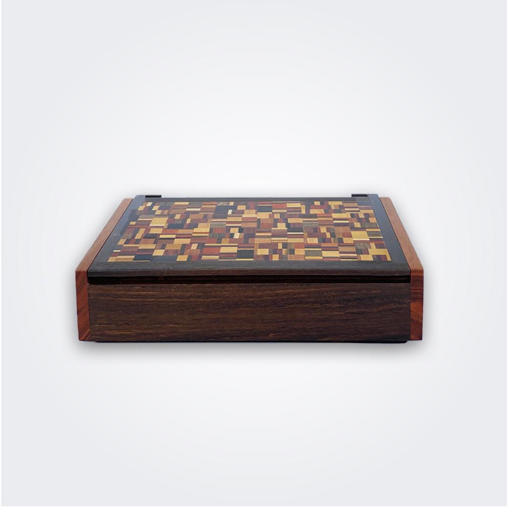 Weaved-pattern-wooden-box-1