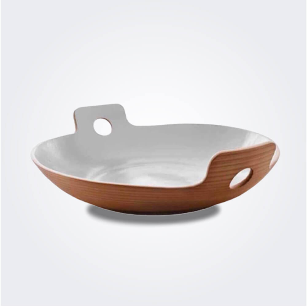 White spaghetti bowl medium