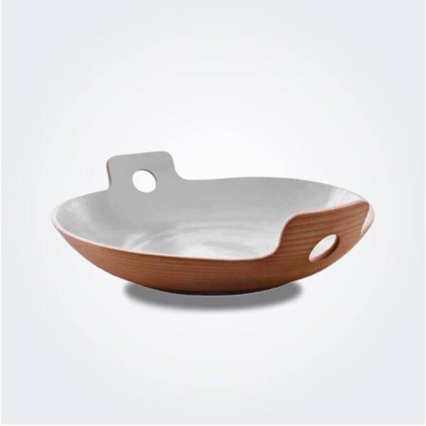 Small white spaghetti bowl product picture.