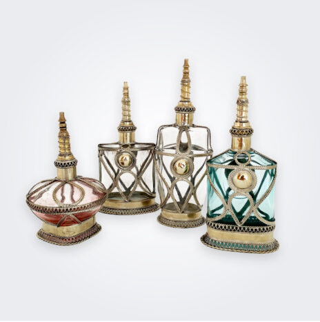Colored Perfume Bottle Set