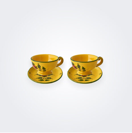 Oriente Italiano Giallo Coffee Cup Set