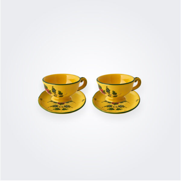 Giallo fiore coffee cup set product picture.