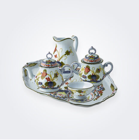 Blue Majolica Tea Service Set