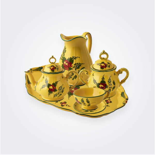Oriente Italiano Giallo tea service set complete set.