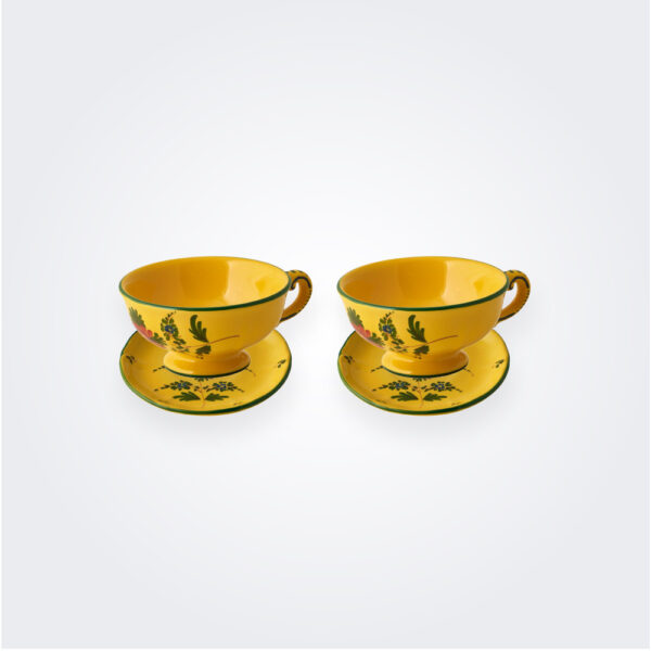Giallo fiore teacup set product picture.