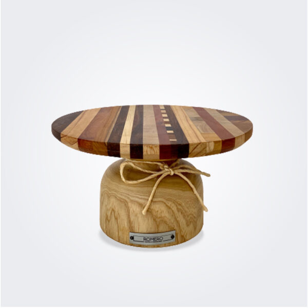 Mixed wood cake stand (small) product picture.