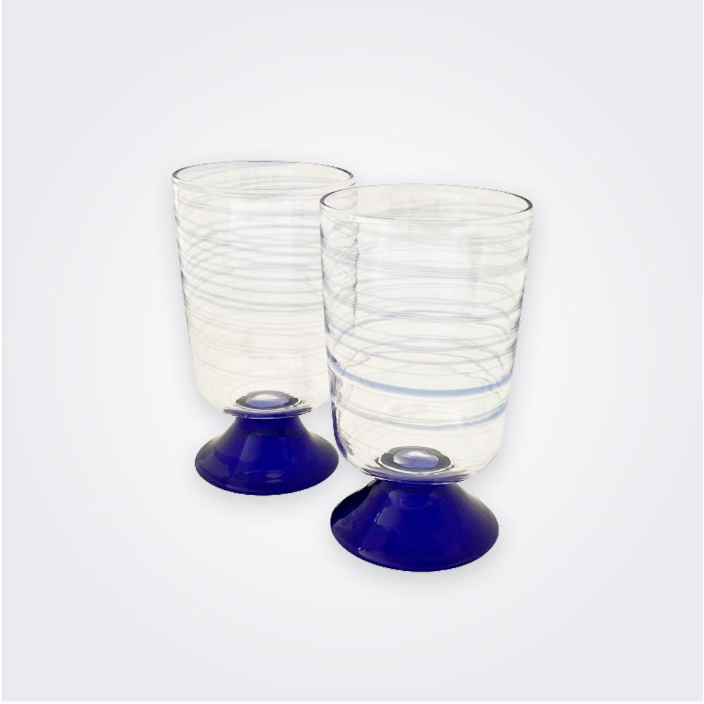 Blue-spiral-water-glass-set