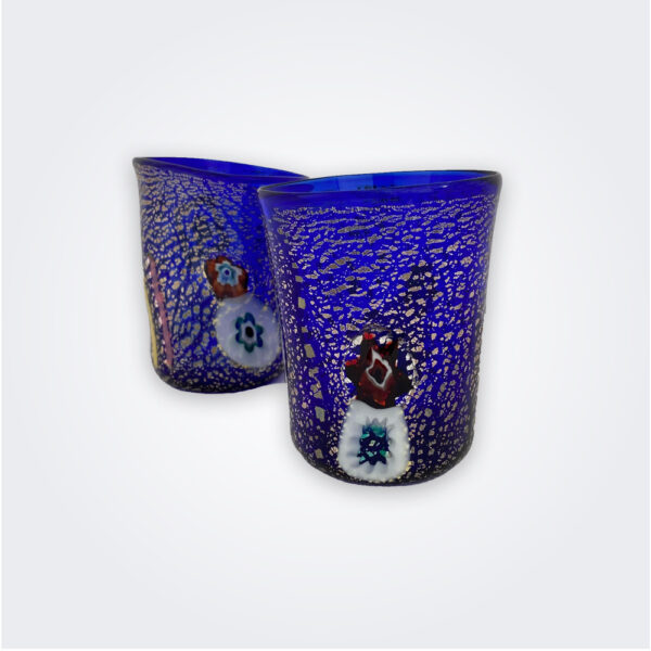 Blue murano glass set product picture.