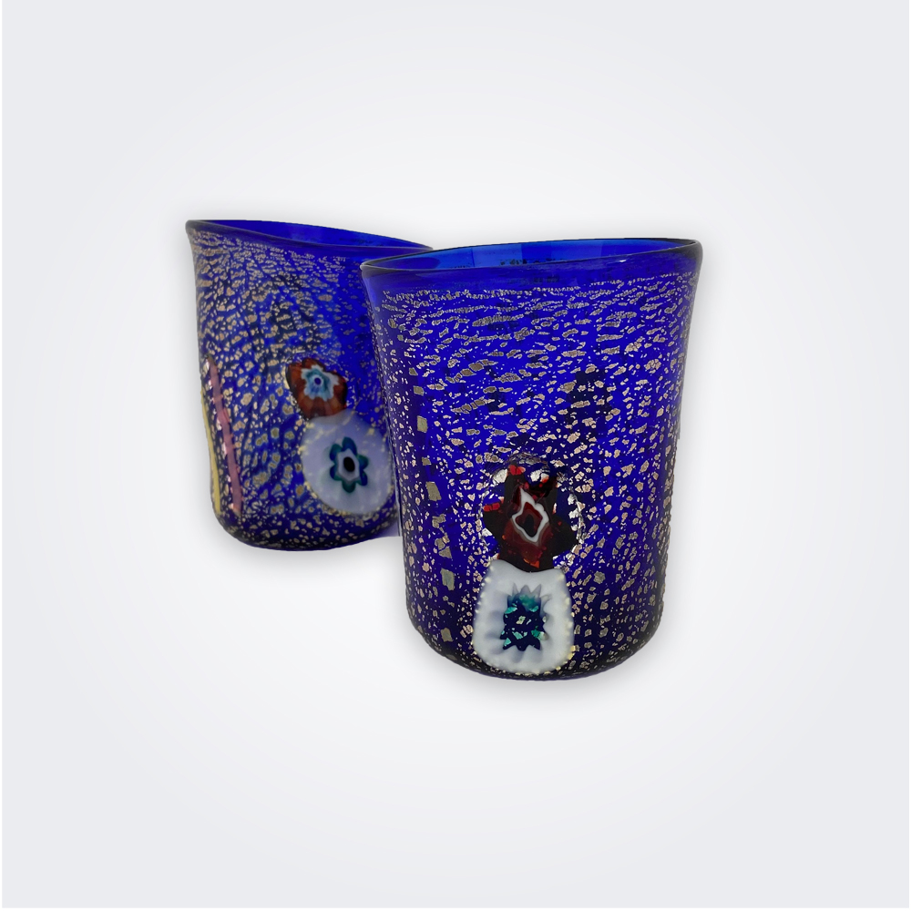 Blue-murano-glass-set