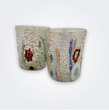 Clear Murano Glass Set
