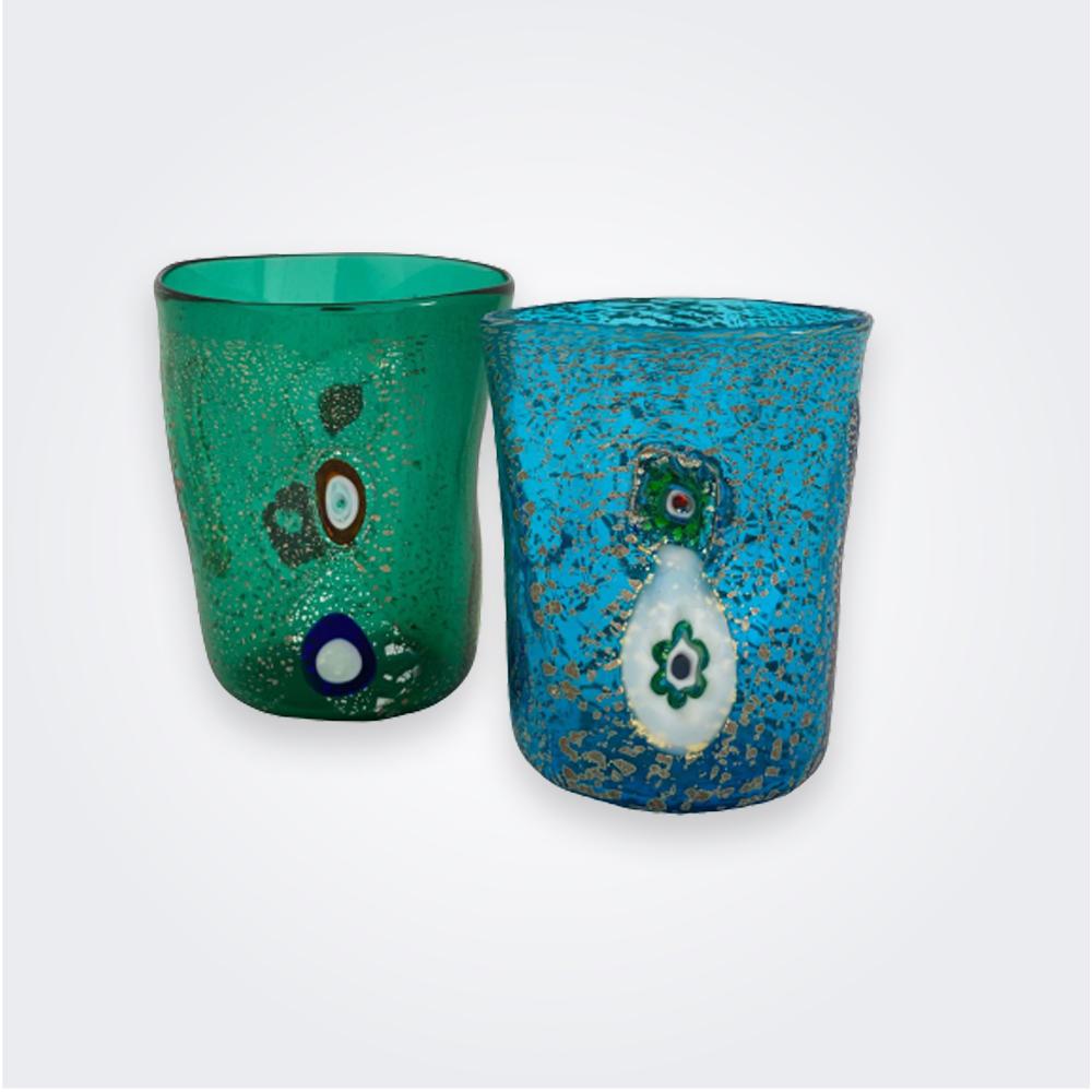 Aqua-murano-glass-set
