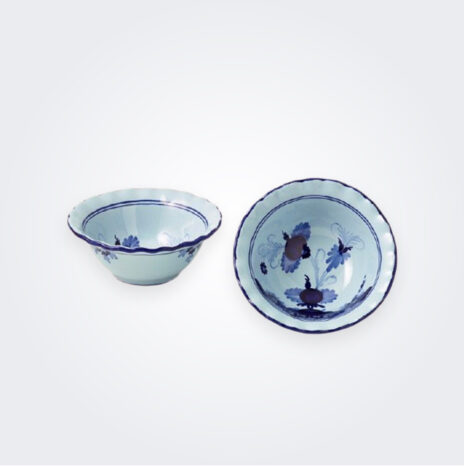 Blue Majolica Small Bowl Set