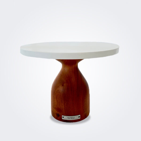 Cinaro wood pedestal cake stand product picture.