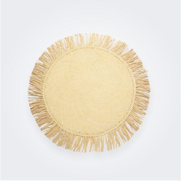 Fringed palm placemat product picture.