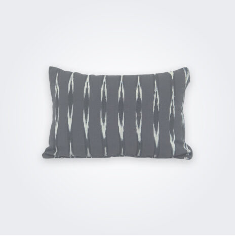 Gray Ikat Lumbar Pillow Cover