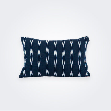 Indigo Ikat Lumbar Pillow Cover