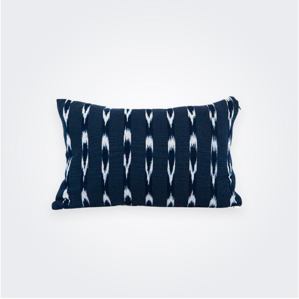 Indigo Ikat Lumbar Pillow Cover