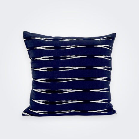 Indigo Ikat Square Pillow Cover