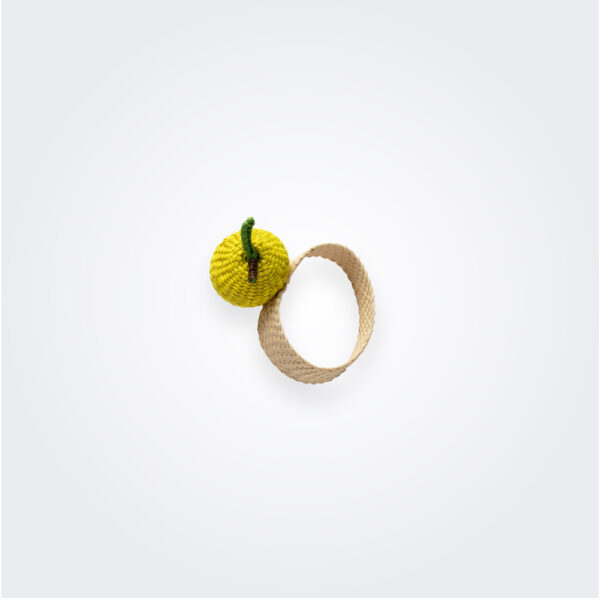 Lime napkin ring product picture.