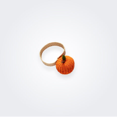 Orange Napkin Ring Set
