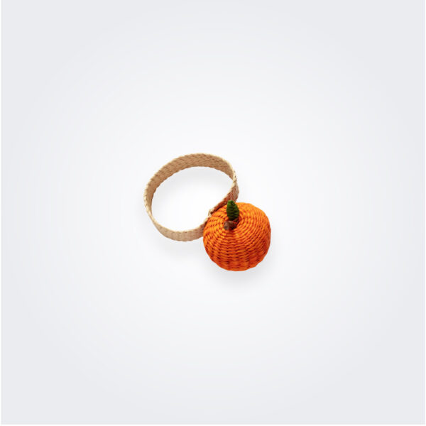 Orange napkin ring product picture.