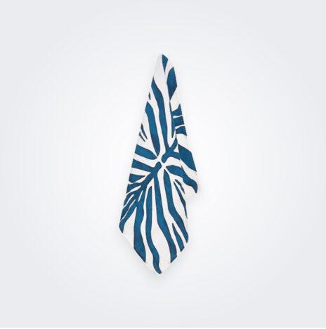 Petrol Blue Zebra Linen Napkin