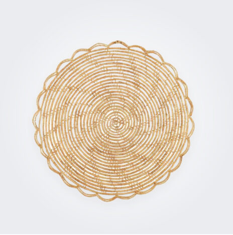 Round Bamboo Placemat Set