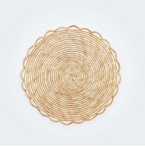 Round Bamboo Placemat Set