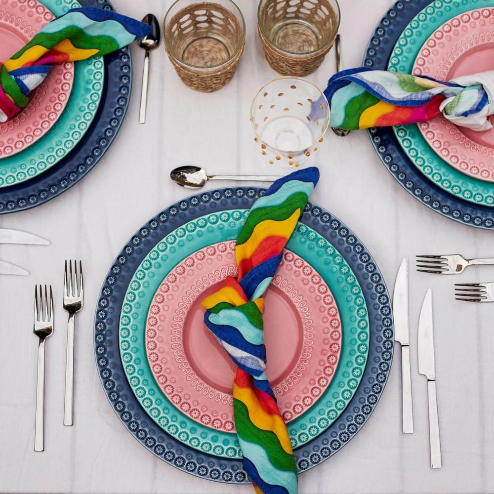 Rainbow Linen Napkin Set 006