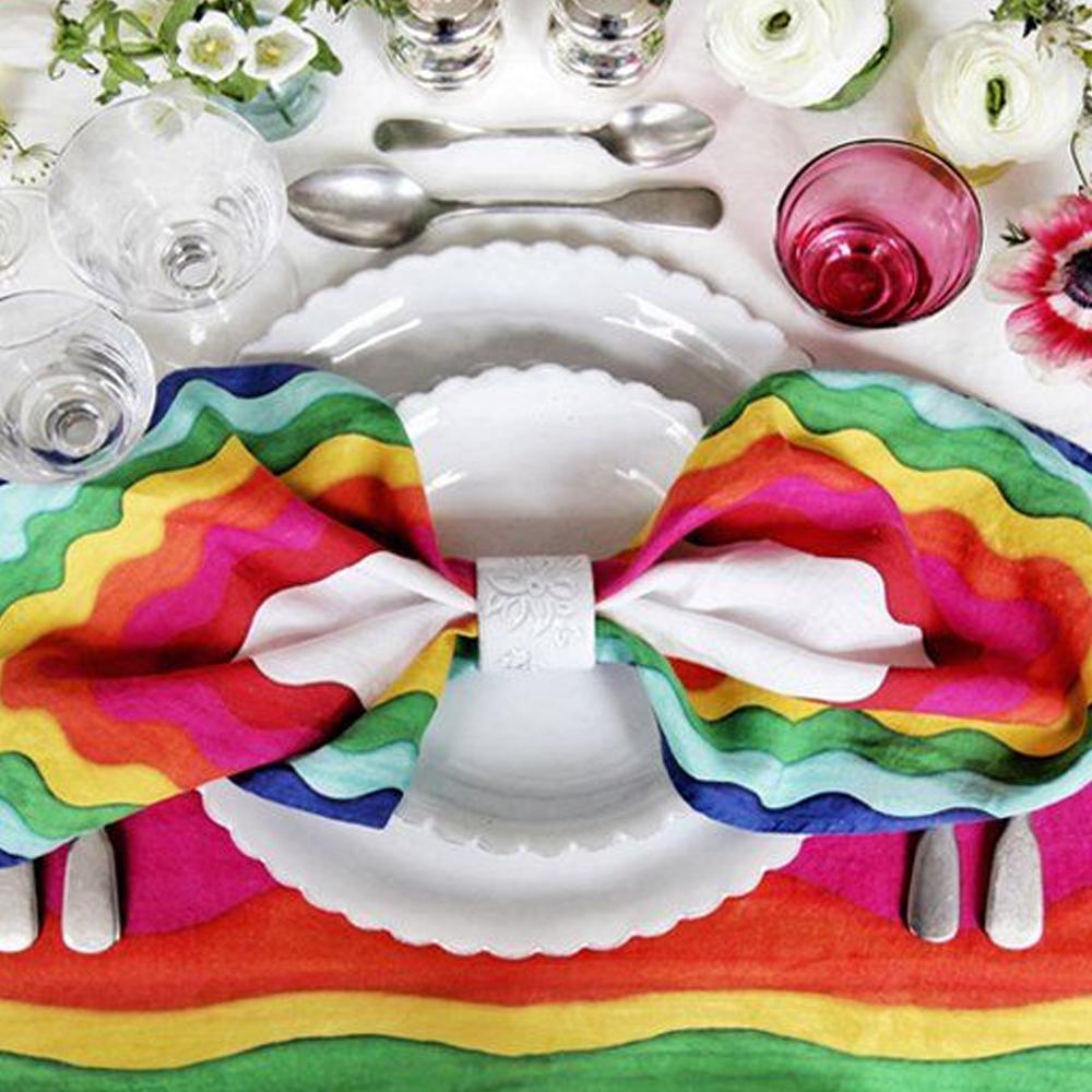 Rainbow Linen Napkin Set 3
