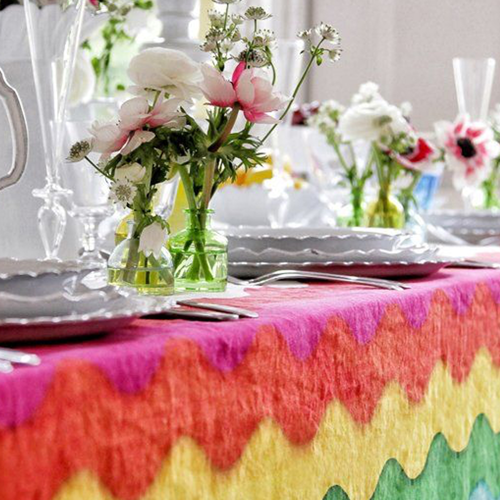 Rainbow Linen Tablecloth 4