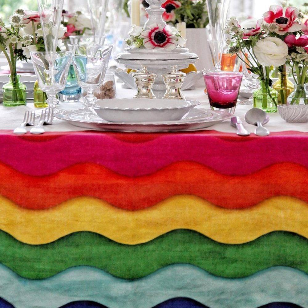 Rainbow Linen Tablecloth 6