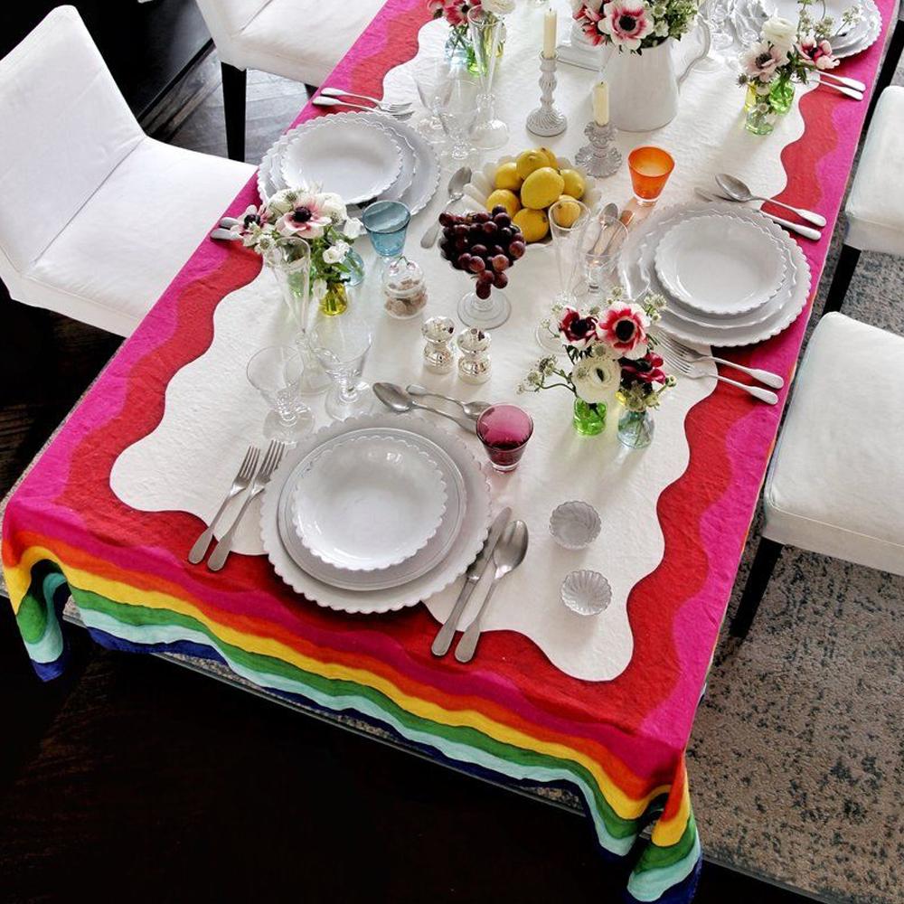 Rainbow Linen Tablecloth 7