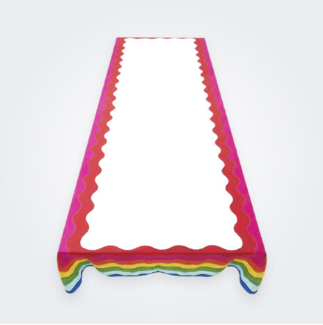 Medium Rainbow Linen Tablecloth