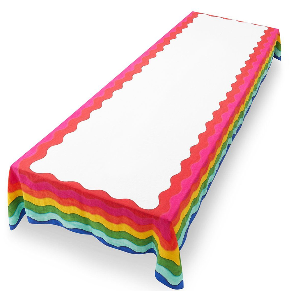 Rainbow Linen Tablecloth (S y L) 3