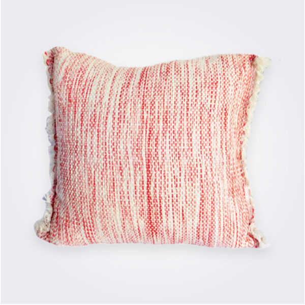 Salmon serenity pillow cover product picture.