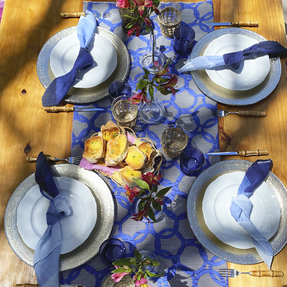 Shades of Blue Linen Napkin 33