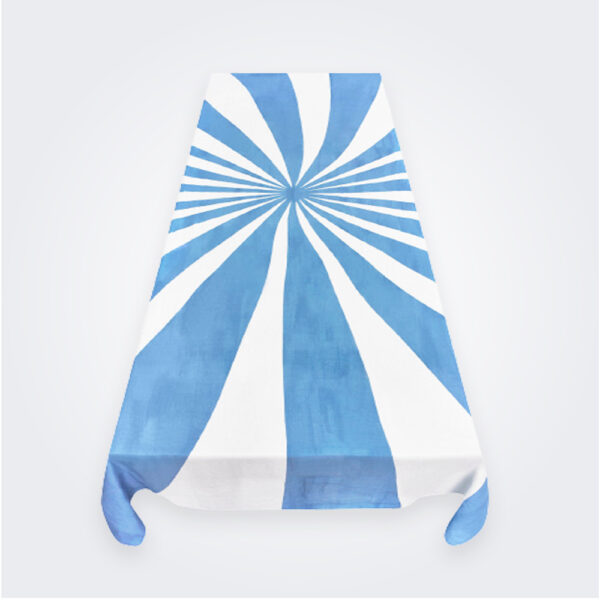 Blue Le Cirque tablecloth product picture.