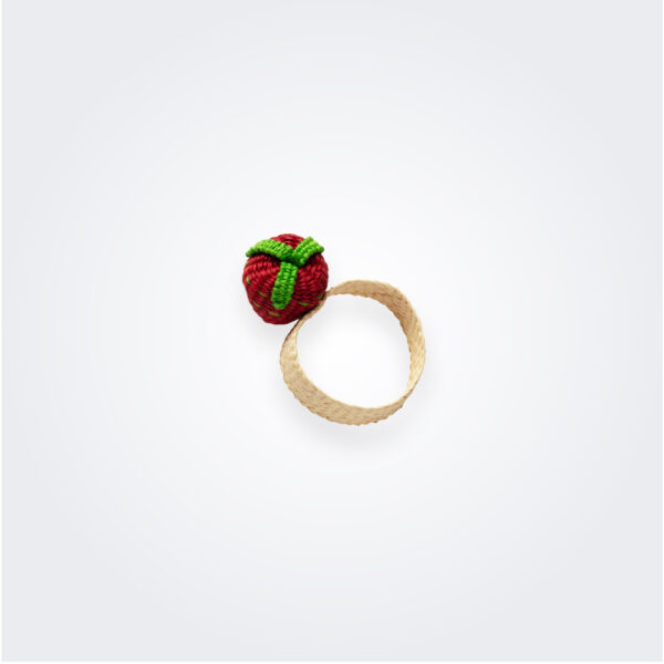 Strawberry napkin ring product picture.