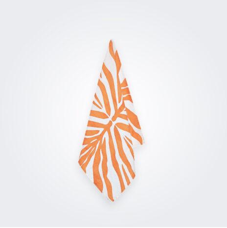 Tangerine Zebra Linen Napkin