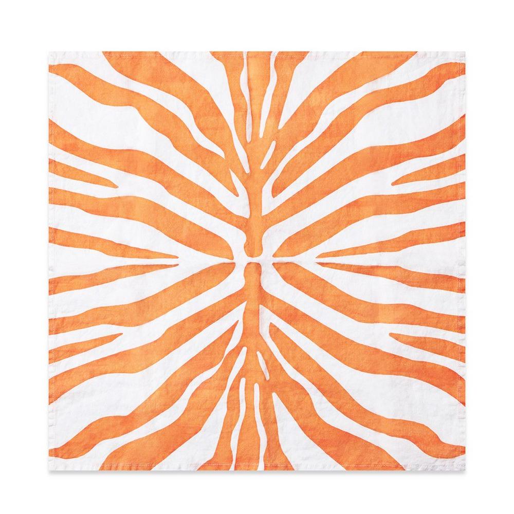 Tangerine-Zebra-Linen-Napkin-2