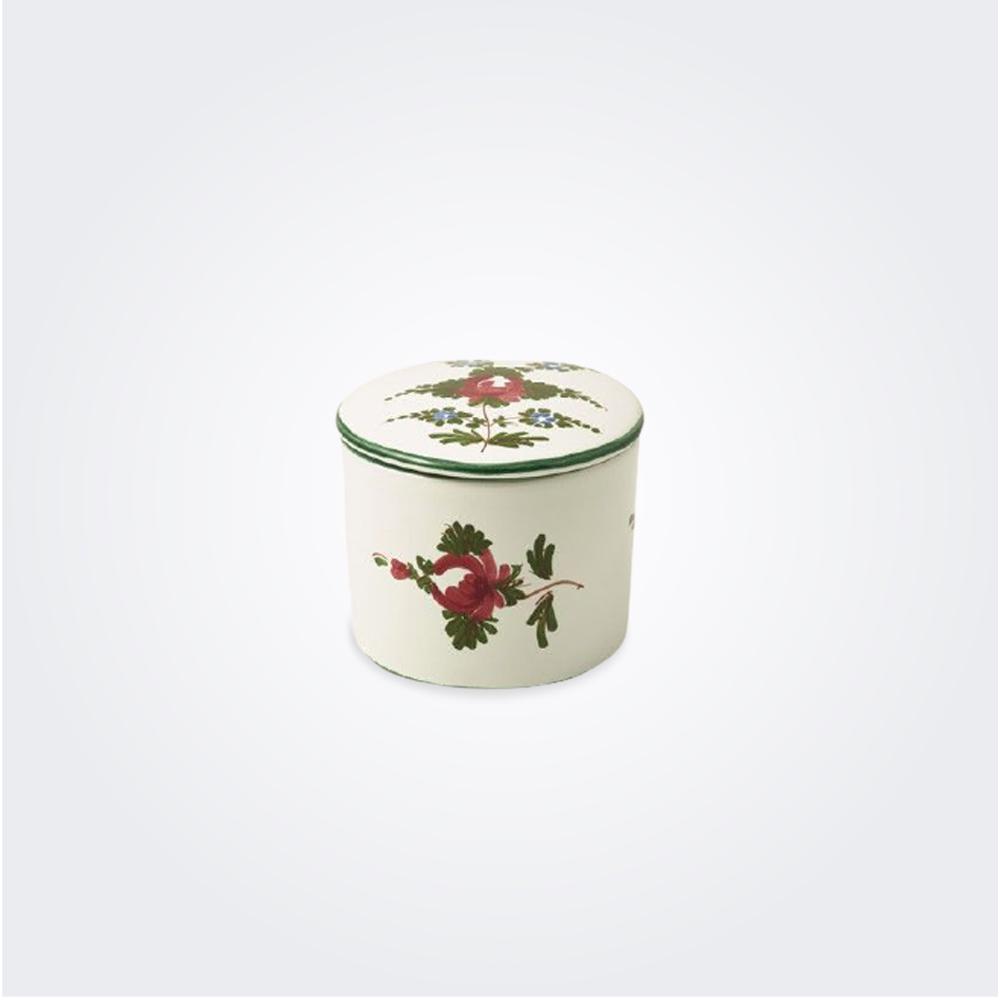White Italian Pottery Jewel Case