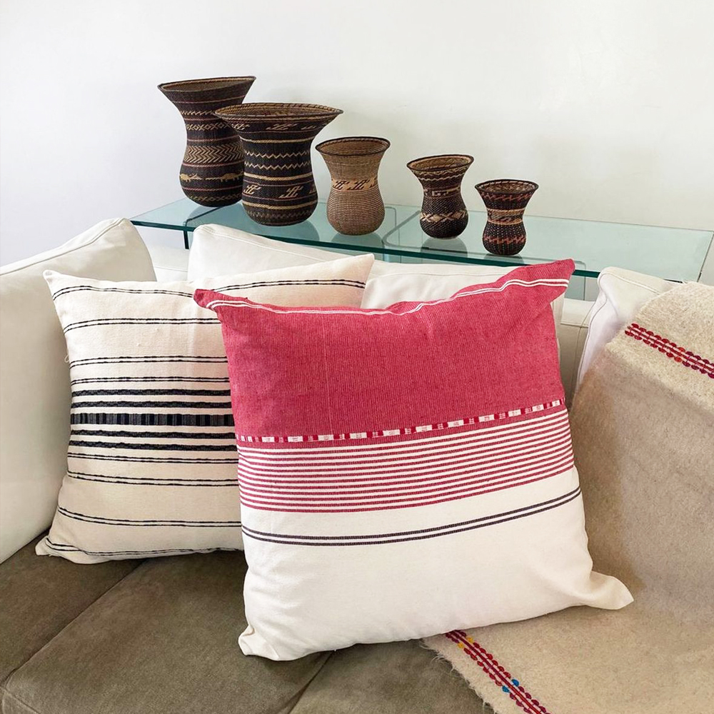 White and Pink Striped Pillow 002 (1)