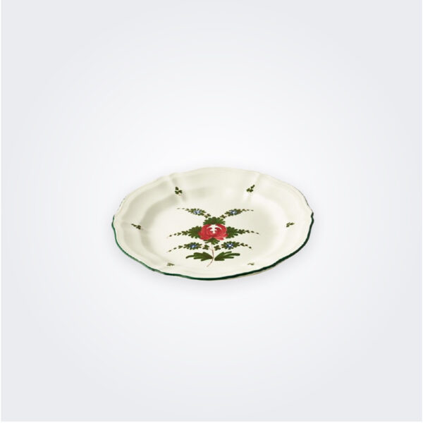 White Italian pottery plate set product picture.